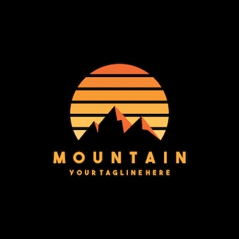 Design creativo moderno logo di montagna