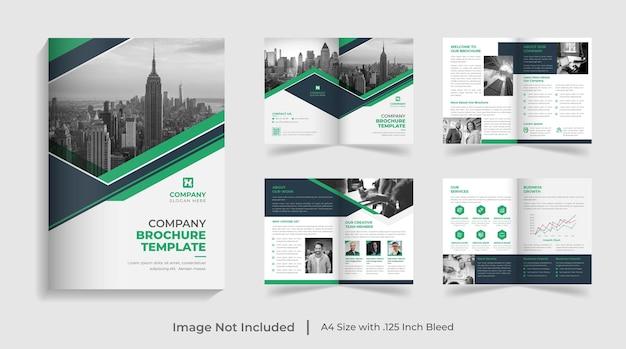 Creativo moderno modello di brochure aziendale multipagina relazione annuale profilo aziendale design