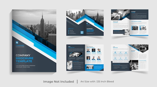 Creativo, moderno, multipagina, modello di brochure aziendale, rapporto annuale, profilo aziendale, design