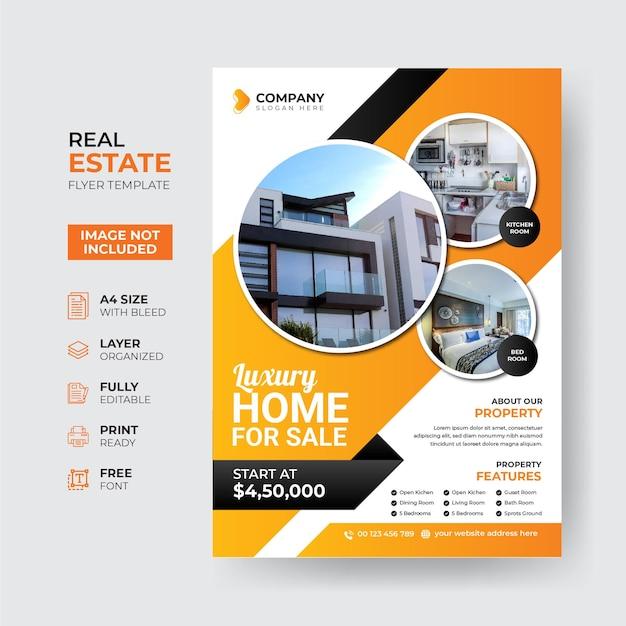 Modello di volantino immobiliare creativo e moderno