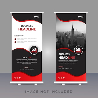 Design moderno creativo roll up banner modello