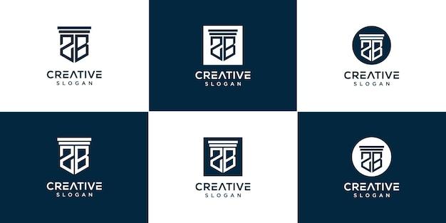 Set logo creativo monogramma 2b
