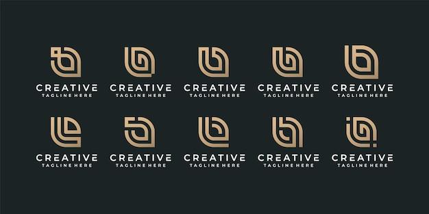 Creativo monogramma lettera b iniziale alfabeto font logo design per l'identità del marchio