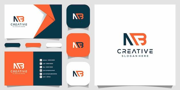 Monogramma creativo, m combinato con modello di design del logo b.