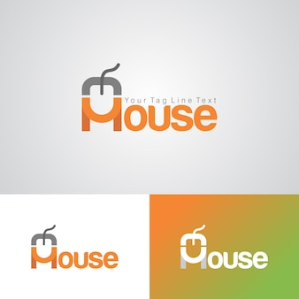Modello di progettazione logo del mouse creativo