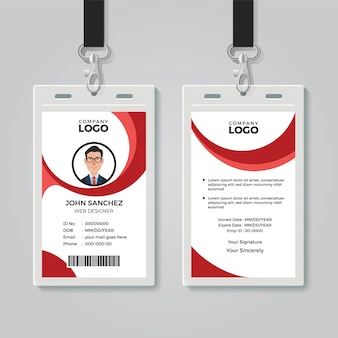 Modello di carta d'identità per ufficio creativo