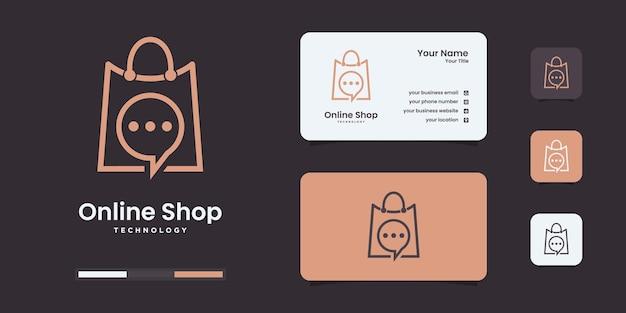 Modello di progettazione del logo del negozio online creativo. logo da utilizzare per la tua attività tecnologica.