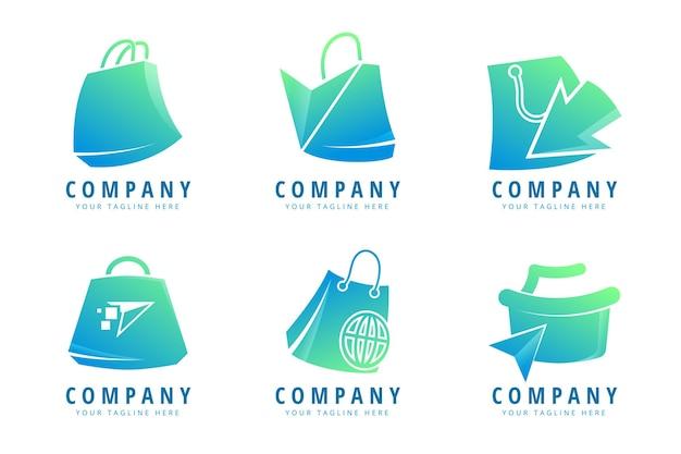 Modelli di logo del negozio online creativo