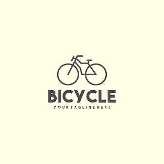 Logo della bicicletta contorno creativo Vettore Premium