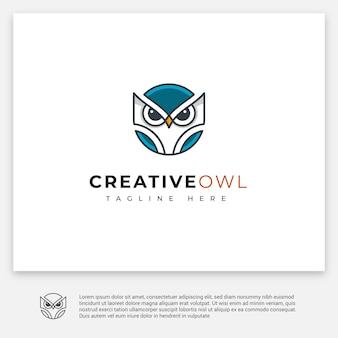 Logo gufo creativo