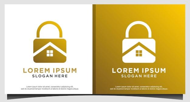 Design del logo per la sicurezza della tecnologia del lucchetto creativo