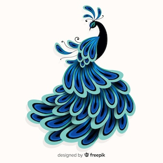 Design creativo di pavone