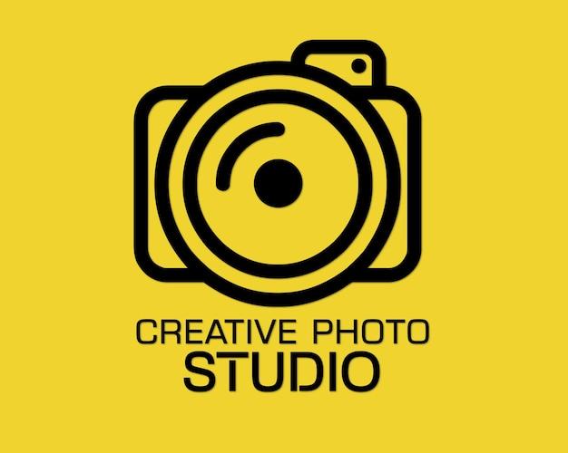 Vettore di progettazione logo studio fotografico creativo