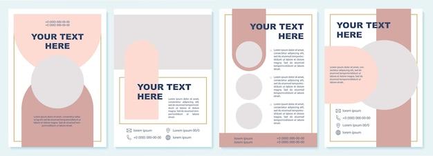 Modello di brochure promozionale rosa creativo. volantino, opuscolo, stampa di volantini, copertina con spazio di copia. il tuo testo qui. layout vettoriali per riviste, relazioni annuali, manifesti pubblicitari