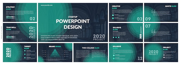 Progettazione creativa di vettore del modello di presentazione