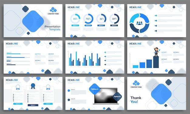 Modelli di presentazione creativa per le imprese.