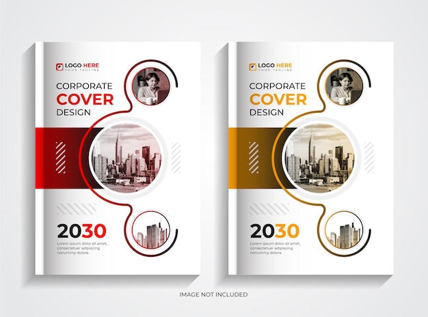 Set di design per copertine di libri aziendali professionali e creativi
