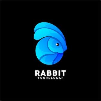 Vettore di progettazione logo colorato coniglio creativo
