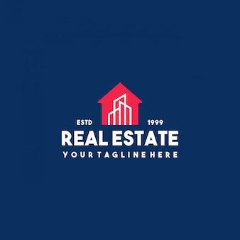 Design del logo creativo edificio immobiliare