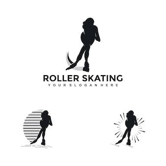 Vettori di illustrazioni di concetti di design di pattinaggio a rotelle creativo