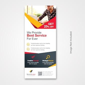 Design creativo per banner rollup