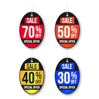 Collezione di banner vendita creativa