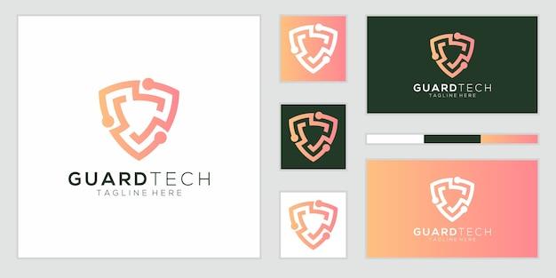 Modelli di logo del concetto di scudo creativo