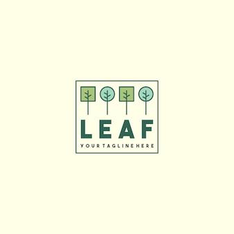Logo foglia semplice creativo