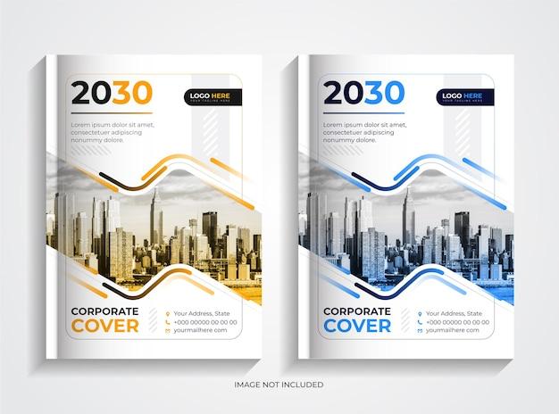 Set di modelli di copertina del libro aziendale moderno semplice e creativo