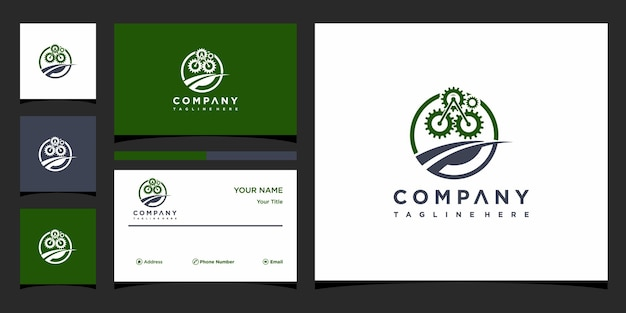 Concetto di logo della soluzione creativa e biglietto da visita premium vettore premium