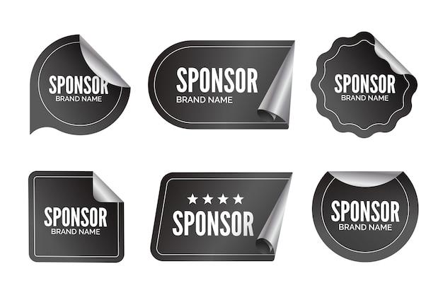 Collezione di adesivi di sponsorizzazione creativa