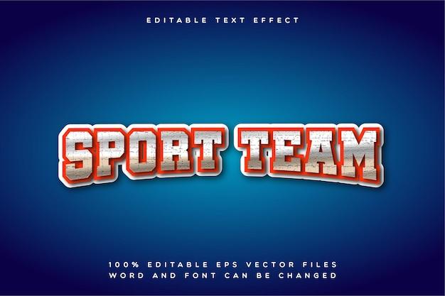 Effetto di testo creative sport team