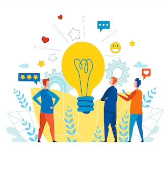Team creativo che lavora con l'idea per i social media