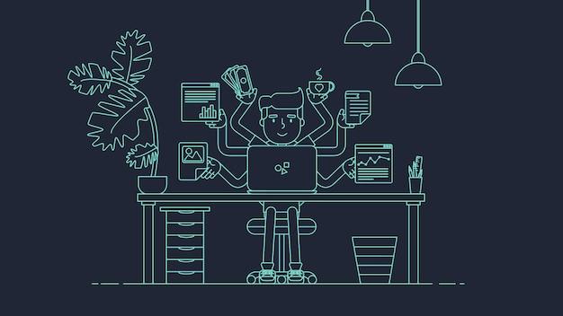 Area di lavoro tecnologica creativa