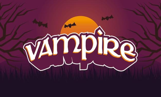 Testo creativo vampiro e sfondo