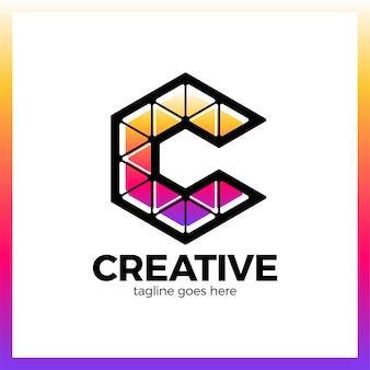 Triangolo creativo colorato