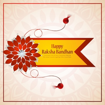 Illustrazione vettoriale creativo di felice raksha bandhan background