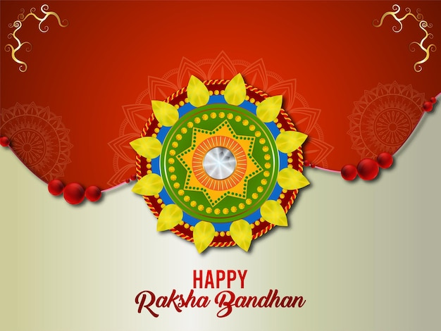 Illustrazione vettoriale creativo del festival indianohappy raksha bandhan