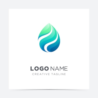 Logo creativo goccia d'acqua