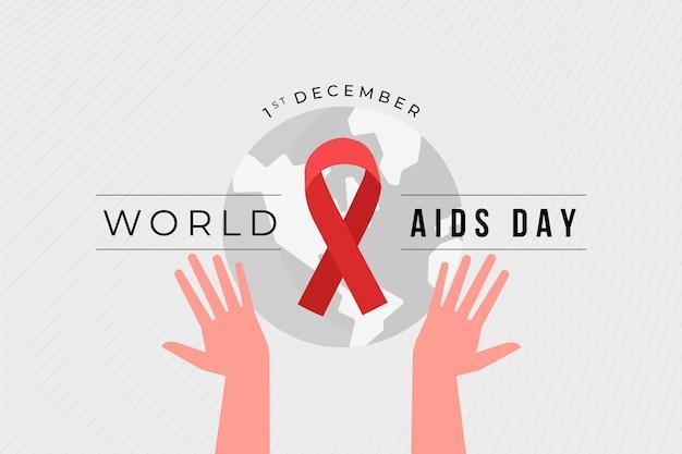 Fondo illustrato di giornata mondiale contro l'aids creativo