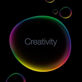 Fondo astratto di creatività con l'illustrazione di vettore del fumetto