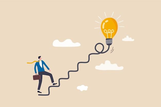 Creatività per idea imprenditoriale, pensiero e brainstorming per nuova idea