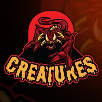 Creatures esport logo modello
