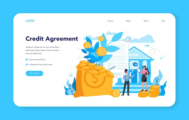 Pagina di destinazione del contratto di credito