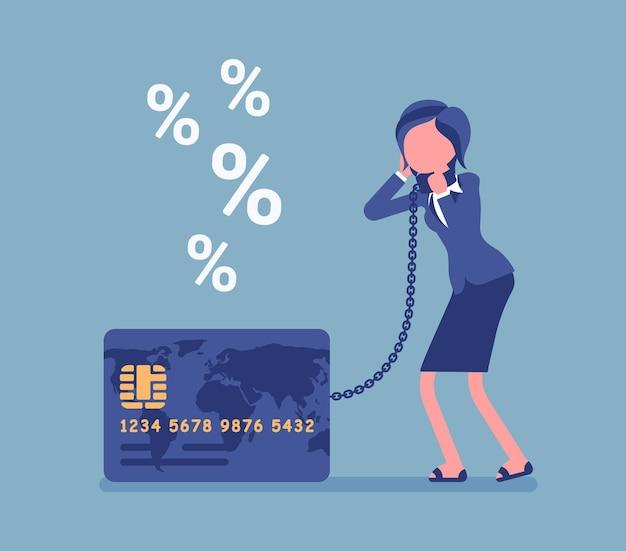 Problema del tasso di percentuale del titolare della carta femminile della carta di credito