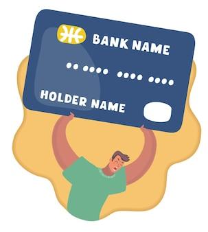 Problema di tasso del titolare della carta di carta di credito femminile