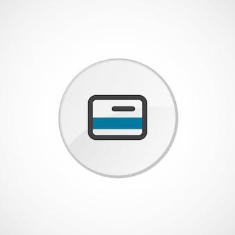 Icona della carta di credito 2 colorata, grigia e blu, badge circolare