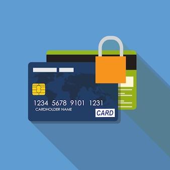 Illustrazione piana di vettore di concetto dell'icona della carta di credito. eps10