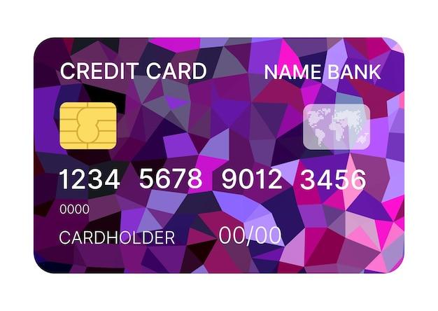 Vettore di modello multicolore di carta di credito con disegno astratto