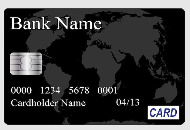 Illustrazione vettoriale di carta di credito